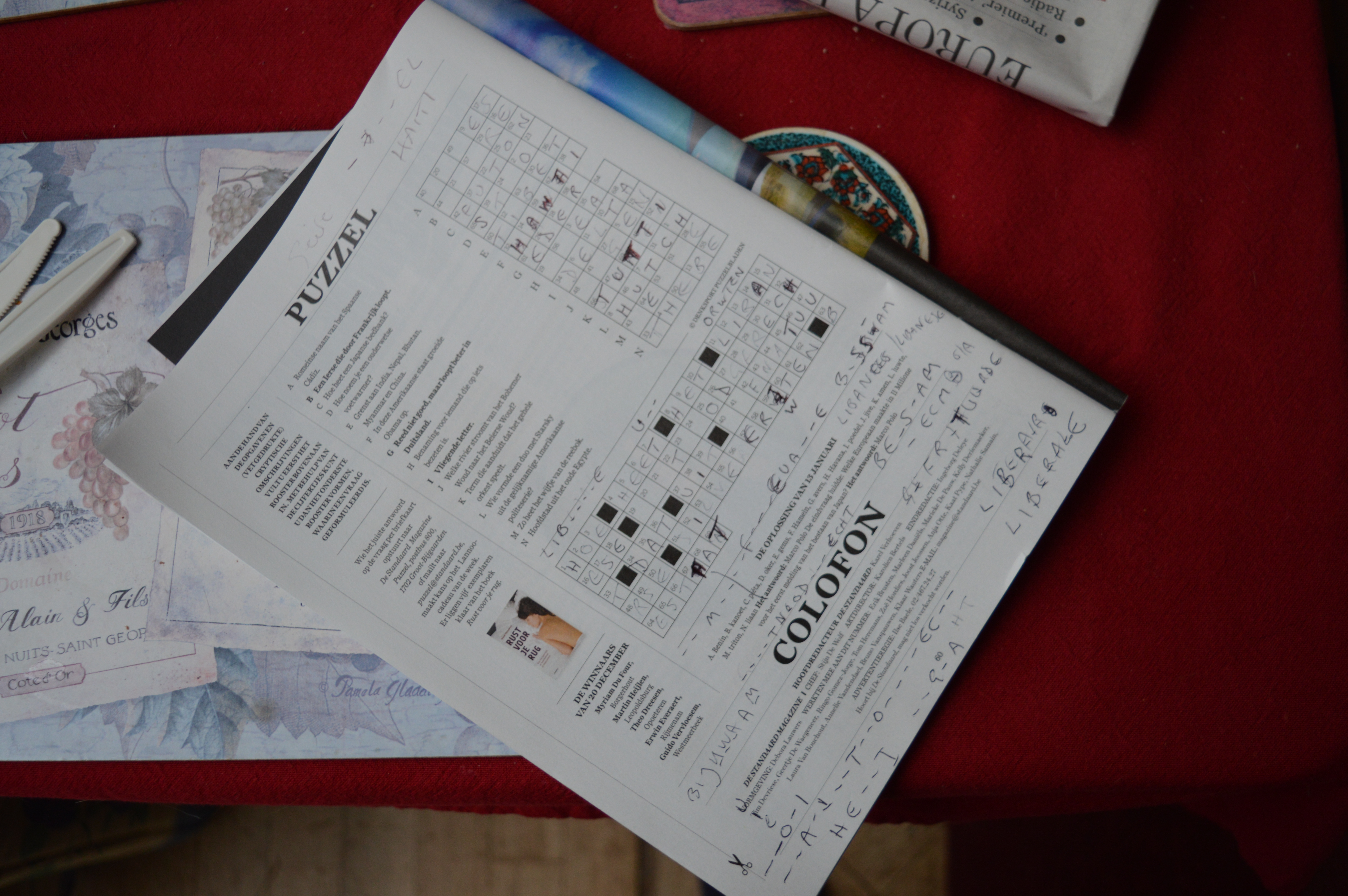Making Connections with Belgian Crossword Puzzles